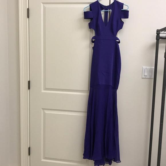 BCBGMaxAzria Dresses & Skirts - Gorgeous Purple Long cut out back BCBGMAXAZARIA